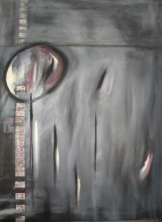 "Sold: Dark Humor, Mixed media, 40"" x 30"", 2007"