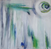 "Sold: White Release, Acrylic on Canvas, 36 x 36"", 2009"