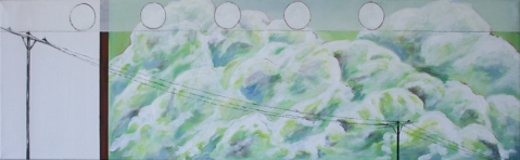 "Sold: Family, Acrylic on Canvas, 14 x 48"", 2010"