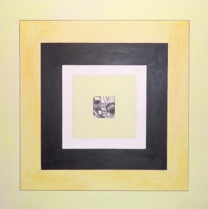 "Untitled, Mixed media, 36 x 36"", 2010"