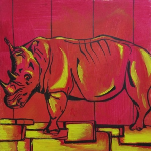 Day 29 5/27/12: Yellow Brick Road & a Rhino
