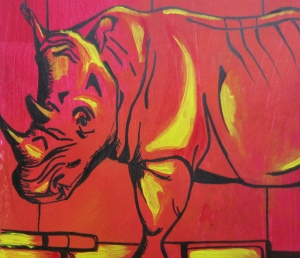 Day 29: Yellow Brick Road and a Rhino Detail