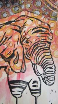 Day 44: Stick Legged Elephant Circles Detail