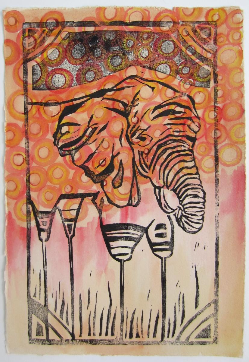 Day 44 (6/11/12): Stick Legged Elephant