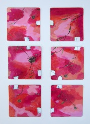 Abstraction, Acrylic and ink on coasters, 2012