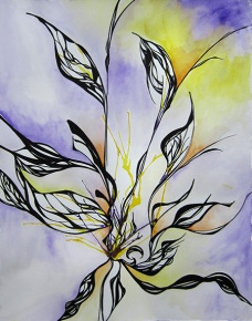 Day 147 (9/22/12): Abstract Leaves Purple and Yellow
