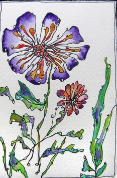 Day 151 (9/26/12): Loosely Drawn Fall Flower