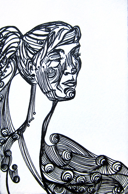 Day 162(10/7/12): Long Neck Lady