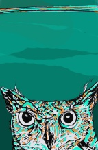 Day 165 (10/10/12): Owl Green Blue Green and Orange Brown