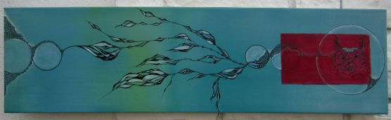 Thoughtless, 36 x 10 acrylic on canvas, 2012