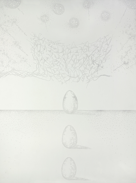 Day 261 18 x 34, Pierced paper