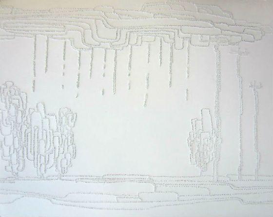 "8 x 10"" pinholes on paper"