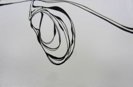 "Lima Pod, 4 x 6"" ink on paper"