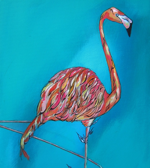 Day 346 Balancing Act Flamingo detail