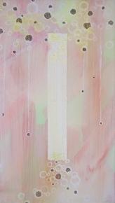 "10 x 14"" Acrylic, ink adn pierced paper on canvas"