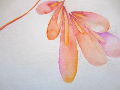 "9 x 12"" Watercolor on pierced paper"