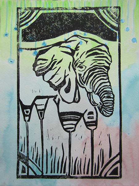 Day 369 soft watercolor Elephant Print