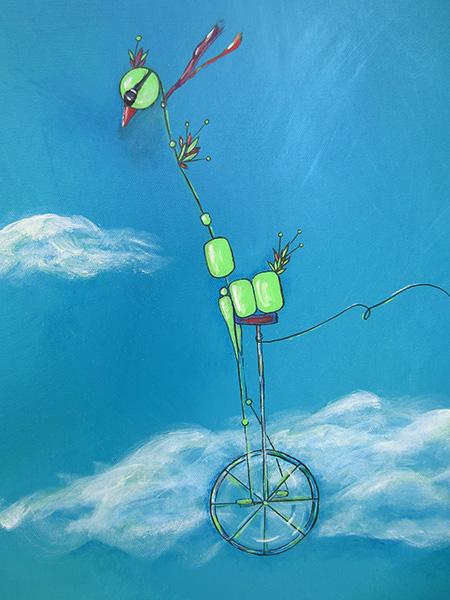 Bird Flying Kite detail