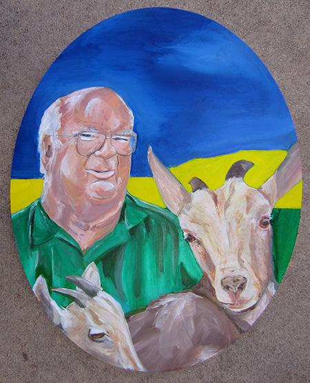 """~16 x 20"""" Acrylic on canvas"""