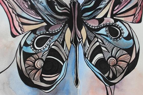 Butterfly final lower detail