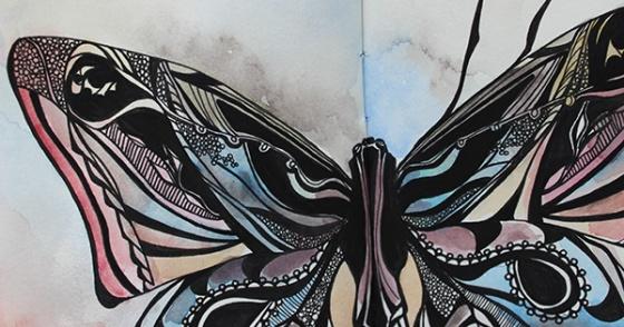 Butterfly final upper detail