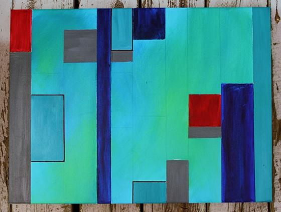 """18 x 24"""" Acrylic on canvas"""