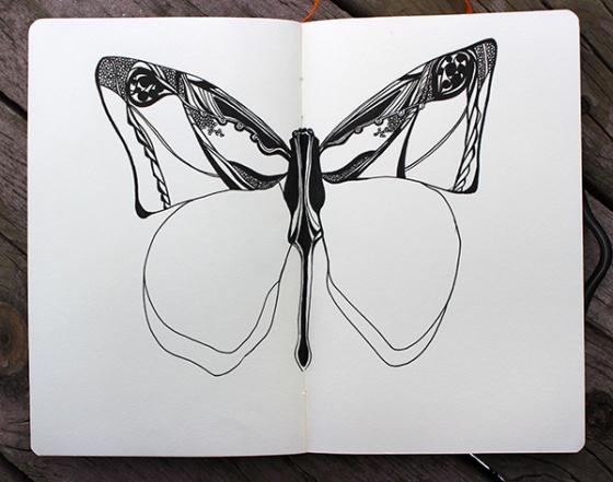 Ink on sketchbook