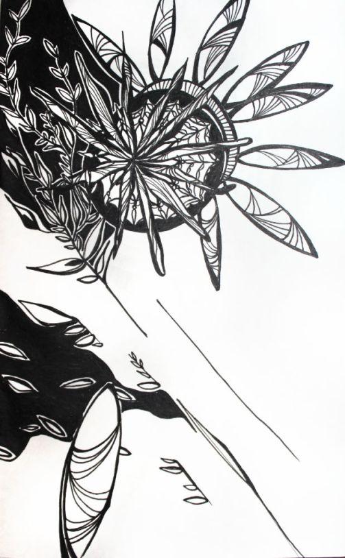 Ink on sketchbook paper