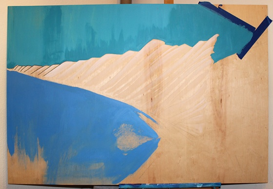 Mountain Range in Blues 2
