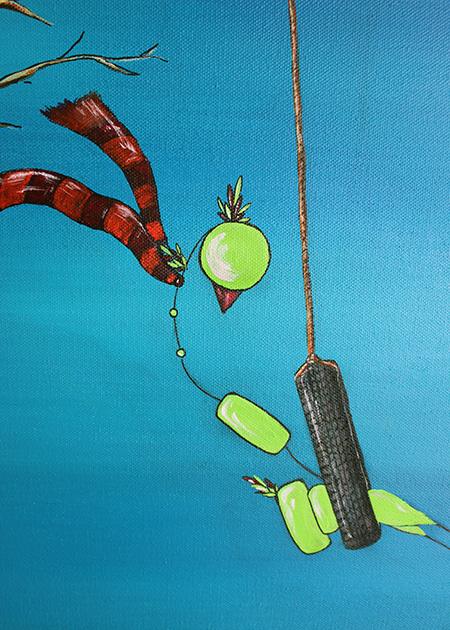 Bird on Swing Head detail