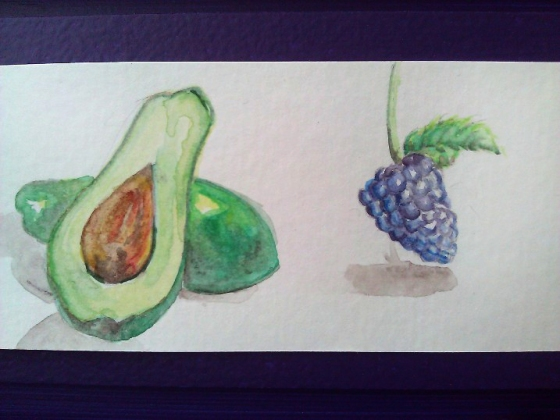 "I was able to do this quick, tiny painting during a break today. ~2"" x 1.5"" watercolor on paper"